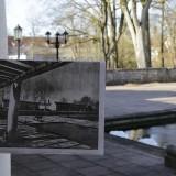 Fliegerhorst Penzing Terrrasse mit Bild aus  Werner Rittich - Architektur und Bauplastik der Gegenwart